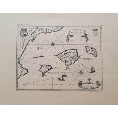 """Mapa """"Insulae Balearides et..."""