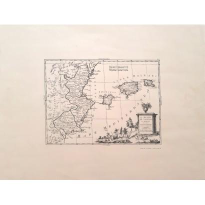 """Mapa """"Li Regni di Valenza e..."""