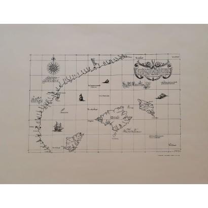 Mapa Islas Baleares y costa...