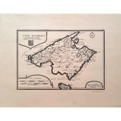 """Mapa de Mallorca """"L'Isle..."""