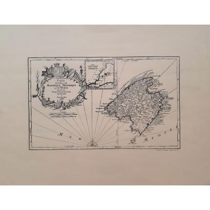 """Mapa de Mallorca """"Carte de..."""
