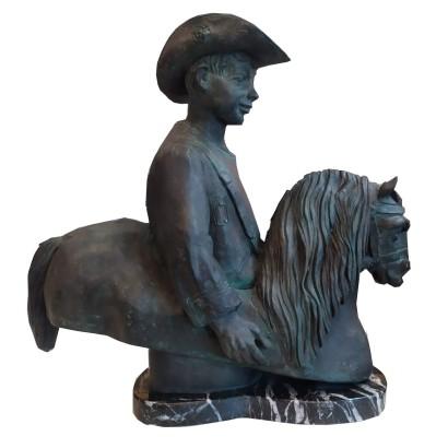 Pujol, Pere. Nin a cavall